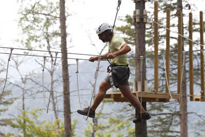 Zipline rope course nh