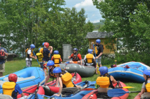 Large Group White Water Instruction