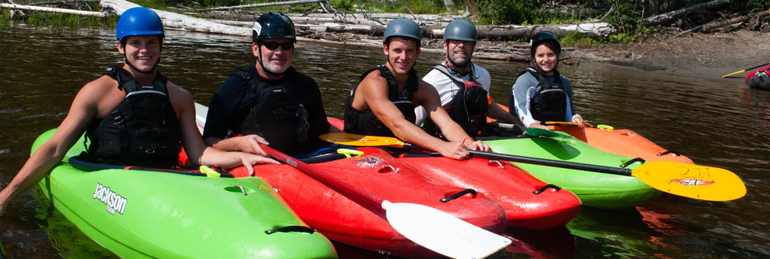 Whitewater kayaking school