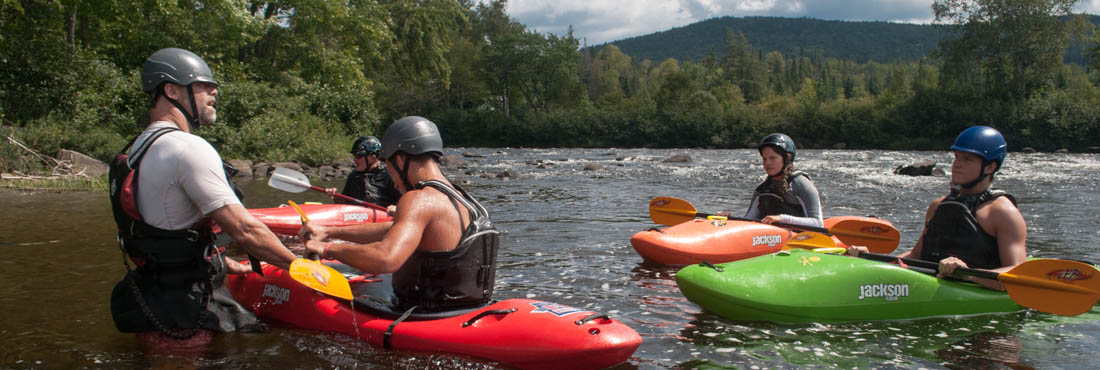 Kayak instruction on Androscoggin River