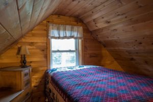 Bedroom in Cabin Rental Maine